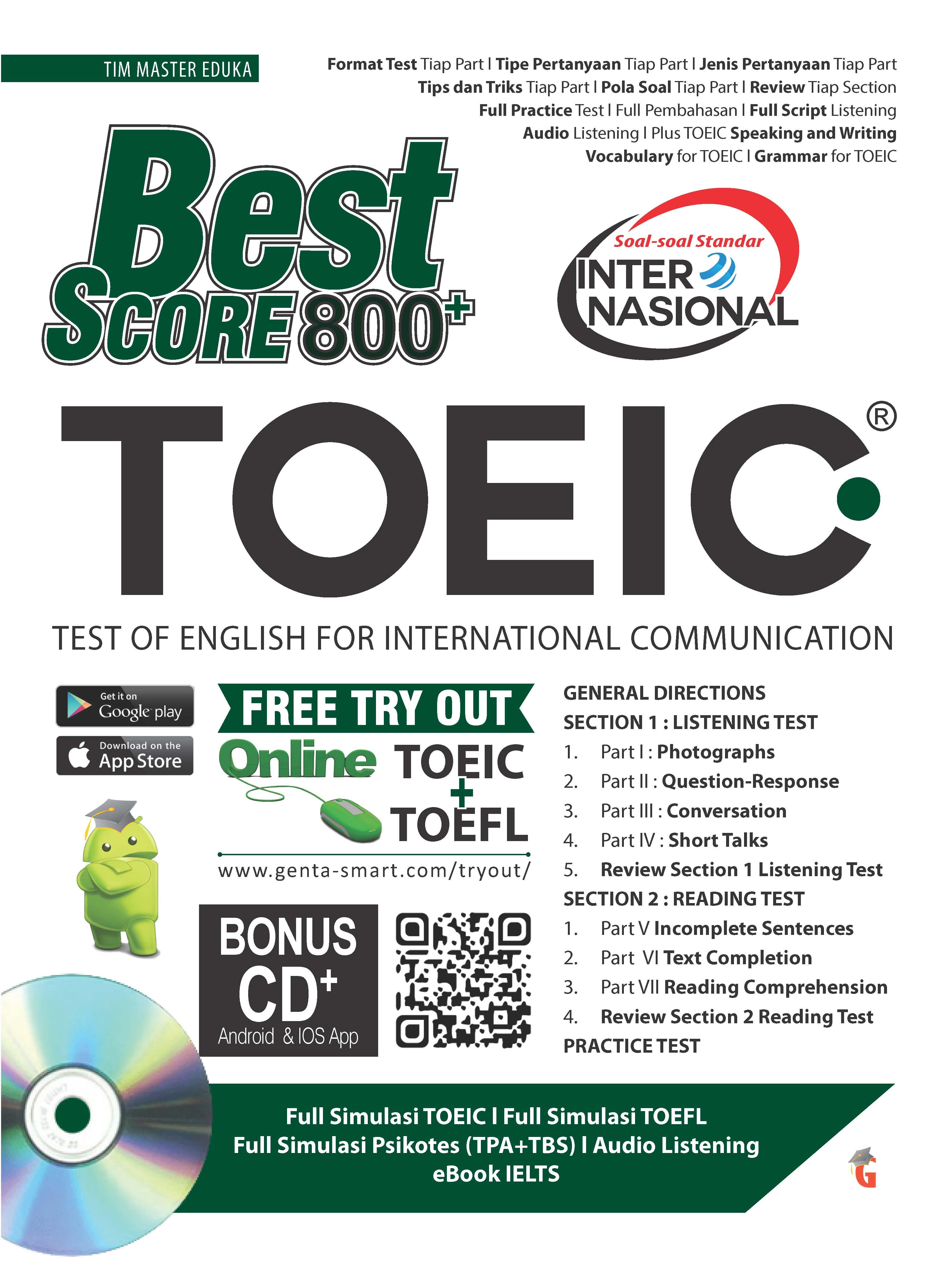 Best score TOEIC 800+ [sumber elektronis]