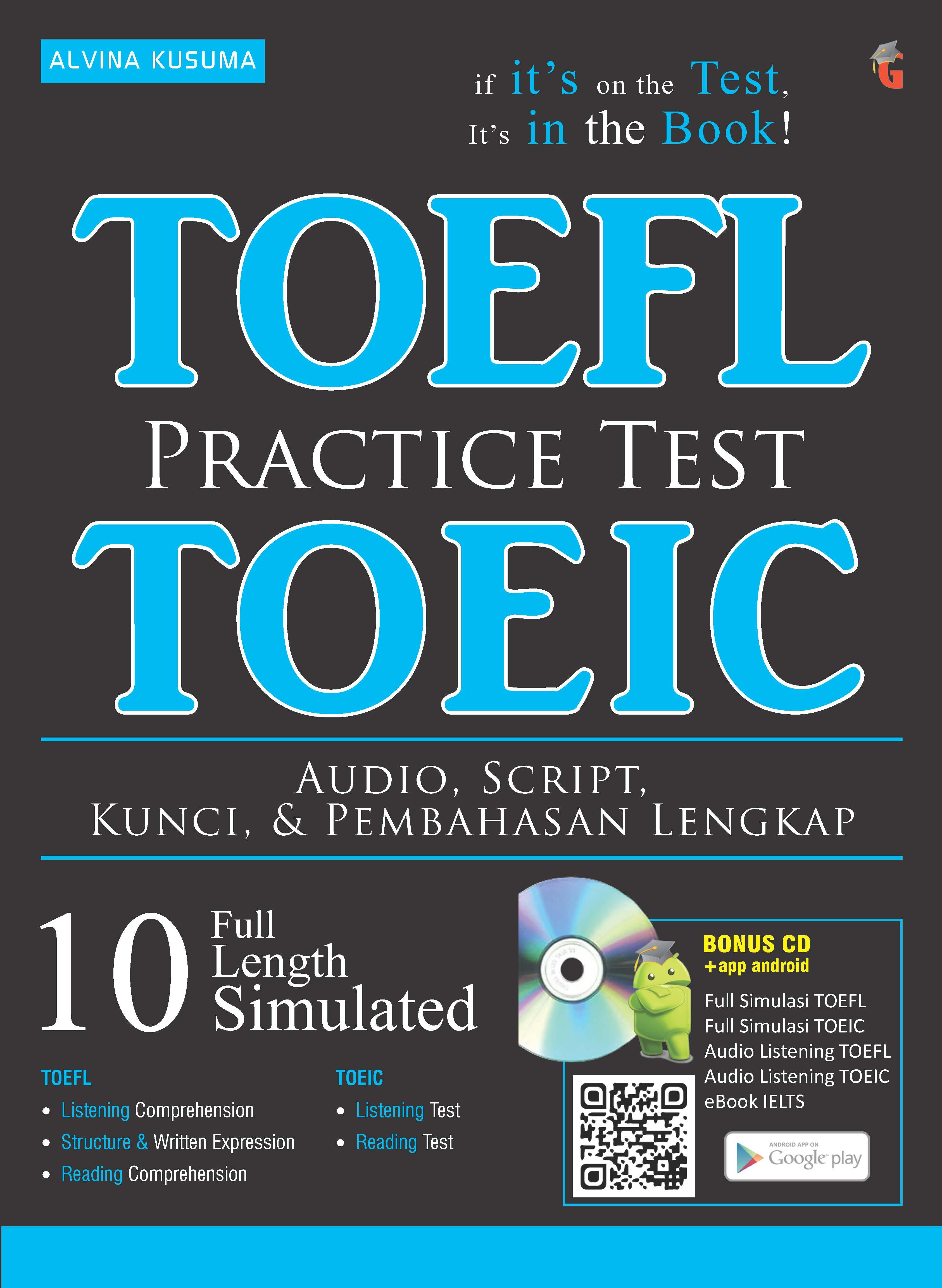 Practice test [sumber elektronis] : TOEFL + TOEIC