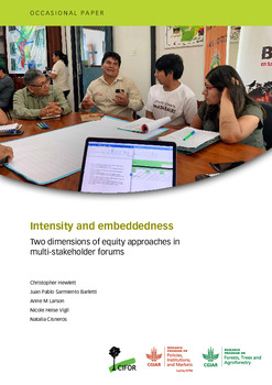 Intensity and embeddedness [sumber elektronis] : two dimensions of equity approaches in multi-stakeholder forums