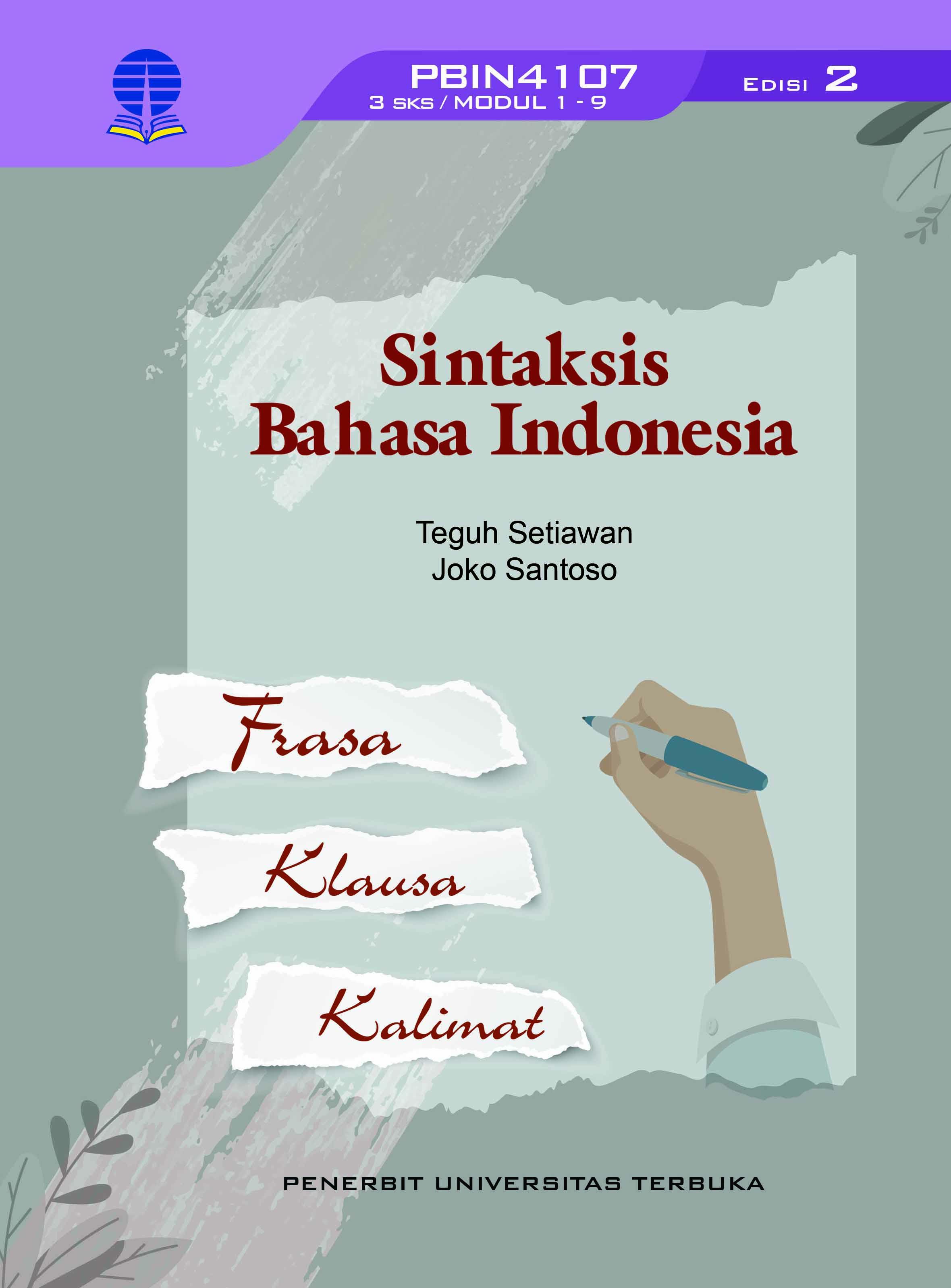 Sintaksis bahasa Indonesia [sumber elektronis]