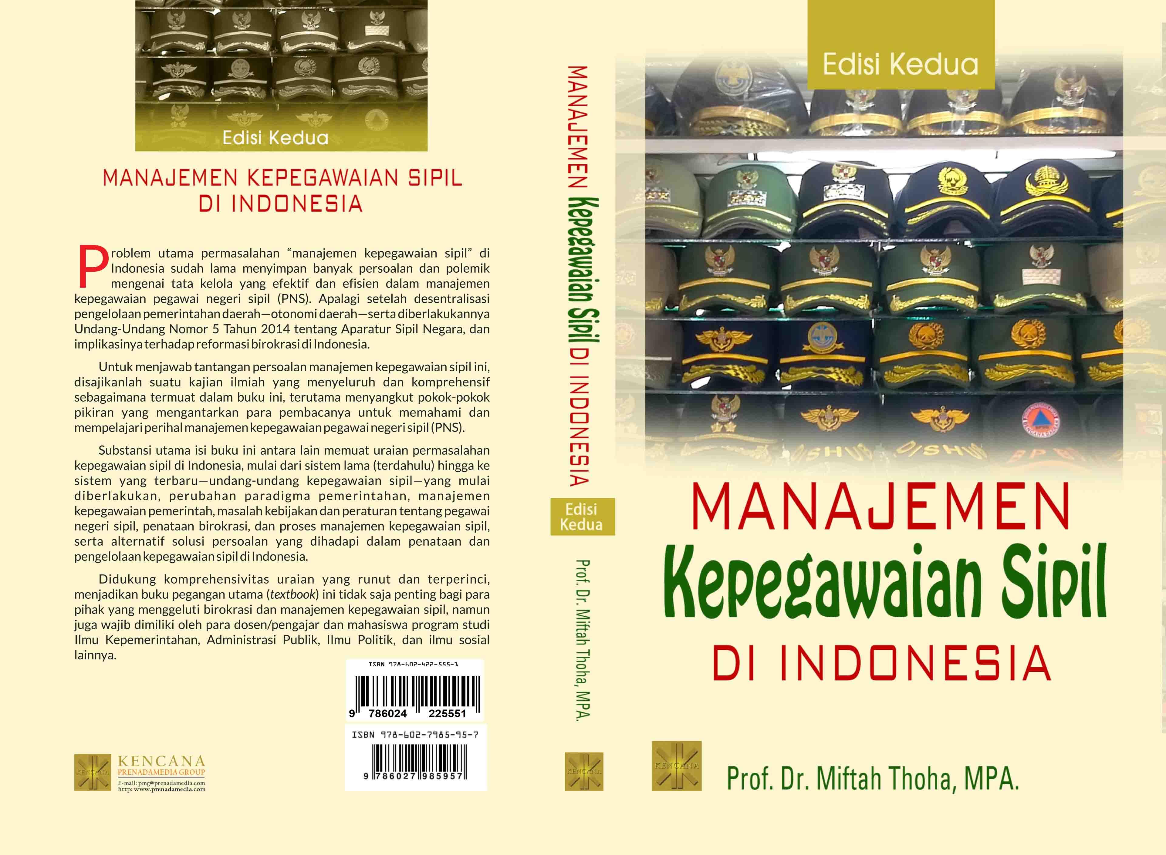 Manajemen kepegawaian sipil di Indonesia [sumber elektronis]