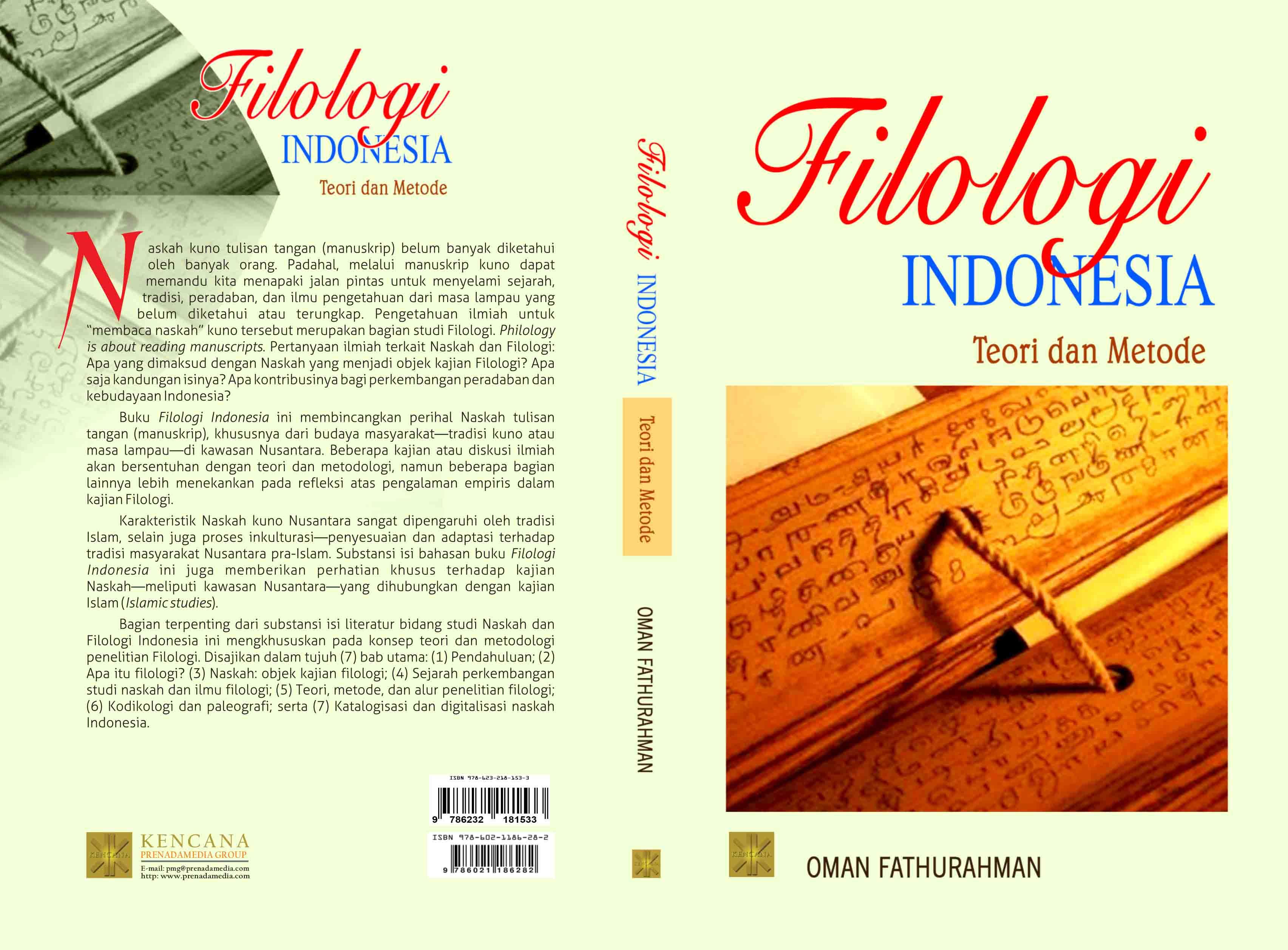 Filologi Indonesia [sumber elektronis]: teori dan metode