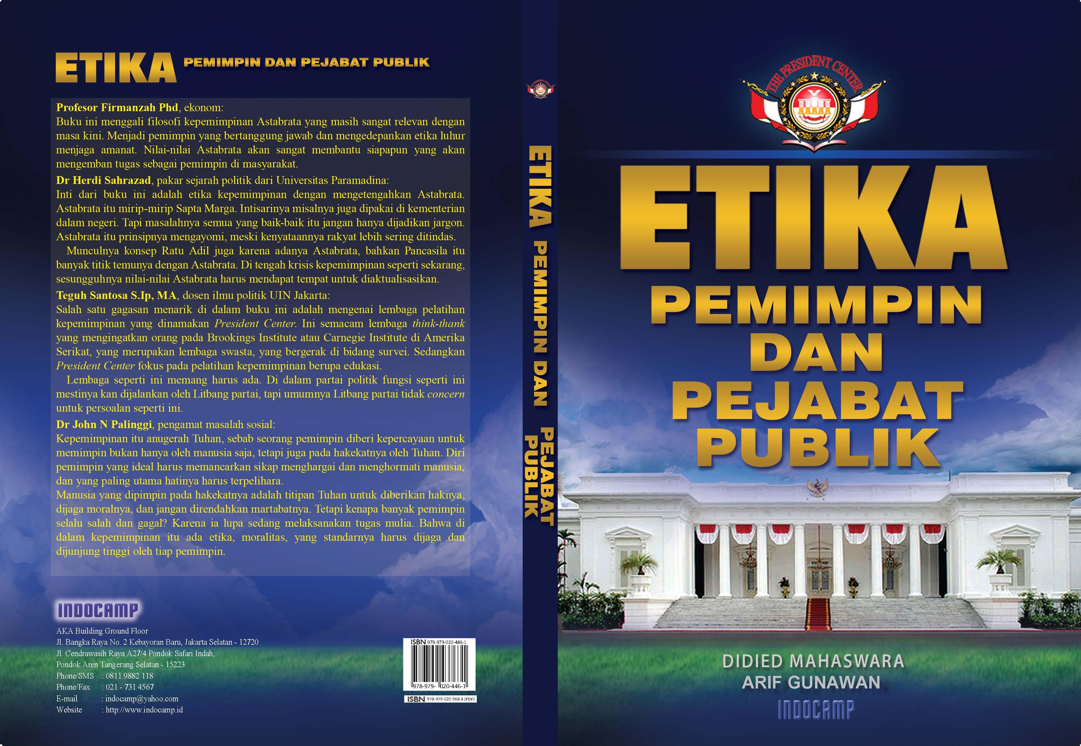 Etika pemimpin dan pejabat publik [sumber elektronis]
